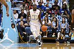 24 October 2014: North Carolina's Theo Pinson. The University of North Carolina Tar Heels played the Fayetteville State University Broncos in an NCAA Division I Men's basketball exhibition game at the Dean E. Smith Center in Chapel Hill, North Carolina. UNC won the exhibition 111-58.