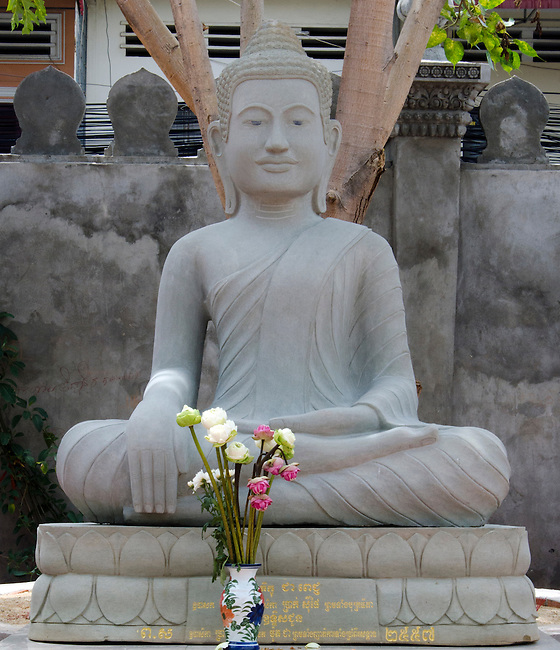 Stone Khmer Buddha Statue