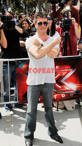 Simon Cowell 2011 at the first Judged auditions for X Factor at Galen Center in Los Angeles, May 8th 2011..Photo by Chris Walter/Photofeatures
