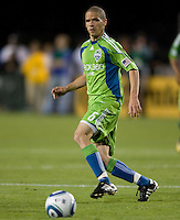 Osvaldo Alonso of Sounders in action during the game against the Earthquakes at Buck Shaw Stadium in Santa Clara, California on July 31st, 2010.   Seattle Sounders defeated San Jose Earthquakes, 1-0.