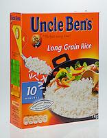 Box of Uncle Ben's Rice - Jul 2014.