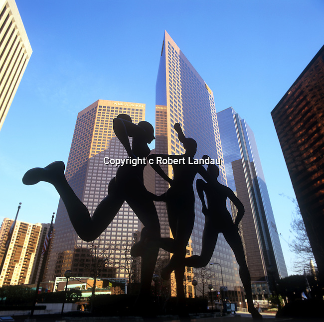 Sculpture in downtown Los Angeles