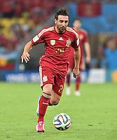 FUSSBALL WM 2014  VORRUNDE    Gruppe B     Spanien - Chile                           18.06.2014 Santi Cazorla (Spanien) am Ball