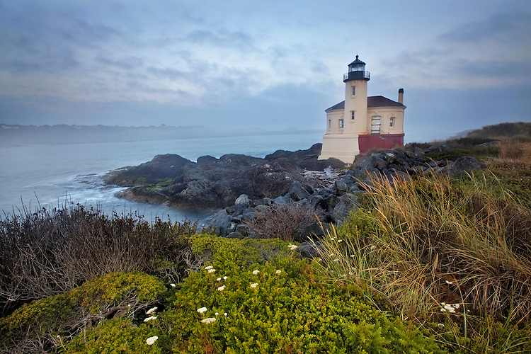 Coquille River Light on the Coquille River near Bandon, Oregon, USA