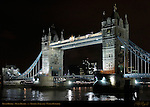Tower Bridge, Bascule and Suspension Bridge, f/2.8, River Thames, London, England, UK