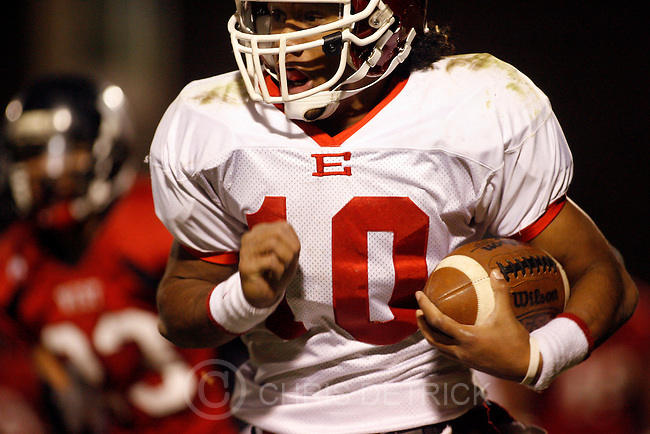East's Danny Tuai, #10, runs the ball during the game Thursday, October 23st, 2008. ..Chris Detrick/The Salt Lake Tribune.