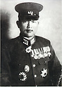 Undated - Tadamichi Kuribayashi (1891-1945) is a Lieutenant General of the Imperial Japanese Army. He was best known for being overall commander of the Japanese garrison during the Battle of Iwo Jima. (Photo by Kingendai Photo Library/AFLO)