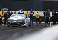 Feb 10, 2017; Pomona, CA, USA; NHRA pro stock driver Tanner Gray during qualifying for the Winternationals at Auto Club Raceway at Pomona. Mandatory Credit: Mark J. Rebilas-USA TODAY Sports