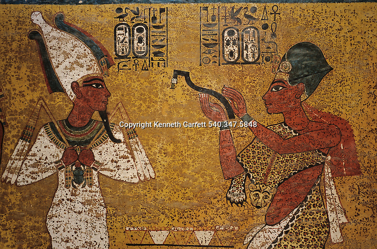 Tomb Wall; North; Aye; Opening of the Mouth, KV 62, Tutankhamun and the Golden Age of the Pharaohs, P 206-7