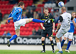 St Johnstone v Inverness Caley Thistle...15.10.11   SPL Week 11.Murray Davidson and Ross Tokely.Picture by Graeme Hart..Copyright Perthshire Picture Agency.Tel: 01738 623350  Mobile: 07990 594431