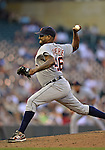 29 September 2012: Detroit Tigers pitcher Jose Valverde in action against the Minnesota Twins at Target Field in Minneapolis, MN. The Tigers defeated the Twins 6-4 in the second game of their 3-game series. Mandatory Credit: Ed Wolfstein Photo
