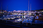 Puerto Colon harbour at night,Tenerife, Canary Islands, Spain