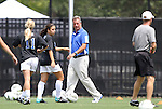 21 August 2011: Duke head coach Robbie Church. The Duke University Blue Devils defeated the University of South Carolina Gamecocks 2-0 at Koskinen Stadium in Durham, North Carolina in an NCAA Women's Soccer game.