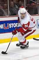03/02/11 Anaheim, CA:  Detroit Red Wings center Valtteri Filppula #51during an NHL game between the Detroit Red Wings and the Anaheim Ducks at the Honda Center. The Ducks defeated the Red Wings 2-1 in OT.