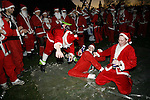 16th of December 2006, more than 500 santas are taking over the streets of London. It's called santacon. and it's all about fun and pub crawling!