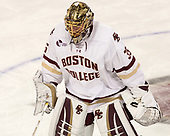Ryan Edquist (BC - 35) - The visiting Boston University Terriers defeated the Boston College Eagles 3-0 on Monday, January 16, 2017, at Kelley Rink in Conte Forum in Chestnut Hill, Massachusetts.