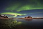 Aurora Borealis in Grundarfjörður, Snæfellsnes peninsula, west Iceland