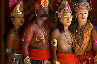 SRI LANKA..Udappuwa festival. Participants at the festival, a ceremony that leaves from the Sri Kali Amman Hindu kovil in the afternoon, early evening. They will go to the main kovil from the Kali kovil in the north of the village.<br /> Sri Lanka.