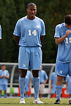 06 September 2009: UNC's Jordan Graye. The University of North Carolina Tar Heels defeated the Evansville University Purple Aces 4-0 at Fetzer Field in Chapel Hill, North Carolina in an NCAA Division I Men's college soccer game.