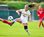 14 October 2010: University of Vermont Catamount defender Becky DeSieno, a Junior from Abington, MA in action against the University of Hartford Hawks at Centennial Field in Burlington, Vermont. The Hawks defeated the Lady Cats 6-2 in America East play. Mandatory Credit: Ed Wolfstein Photo