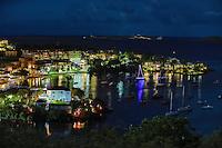Cruz Bay night scene<br /> St. John<br /> U.S. Virgin Islands