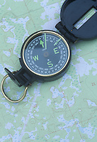 Compass and a topographic map.