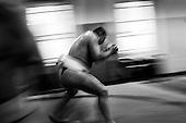 Krotoszyn 04.09.2010 Poland<br /> Sumo player during training.<br /> Poles do not know much about sumo. Japan's national sport remains a mystery, except for the image of the very big and fat sumo wrestlers. However Polish sumo wrestlers have been, for many years, classified among world's leading sportsmen in this field. Since 1995 more and more followers join the sumo sections, fascinated with the art of fighting on the clay dohyo.<br /> Photo: Adam Lach / Napo Images<br /> <br /> Zawodnicy sumo podczas treningu.<br /> Polacy niewiele wiedza o sumo. Narodowy sport Japonii to wciaz tajemnica. Kojarzy sie jedynie z wielkimi i grubymi mezczyznami. Jednak zawodnicy z Polski od lat naleza do swiatowej czolowki w tej dyscyplinie. Od 1995 roku w sekcjach sumo przybywa zawodnik&oacute;w zafascynowanych zmaganiami na glinianym dohyo.<br /> Fot: Adam Lach / Napo Images
