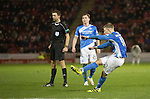Aberdeen v St Johnstone&hellip;10.12.16     Pittodrie    SPFL<br />David Wotherspoon&rsquo;s free kick hits the post<br />Picture by Graeme Hart.<br />Copyright Perthshire Picture Agency<br />Tel: 01738 623350  Mobile: 07990 594431