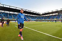 San Jose, CA - Friday April 14, 2017: Marco Ureña  prior to a Major League Soccer (MLS) match between the San Jose Earthquakes and FC Dallas at Avaya Stadium.