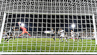 Orlando, FL - Saturday Jan. 21, 2017: Corinthians goalkeeper Cassio Ramos (12) goes up high to grab a cross during the second half of the Florida Cup Championship match between São Paulo and Corinthians at Bright House Networks Stadium. The game ended 0-0 in regulation with São Paulo defeating Corinthians 4-3 on penalty kicks