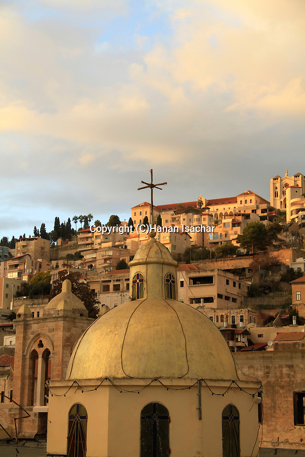 Israel, Nazareth, the dome of the Greek Catholic Church