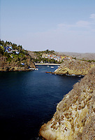 A view of Playa la Rosa and Casa las Flores seen from Gianfranco Brigiani's hanging bridge.  Careyes, Jalisco.