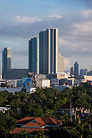 Ortigas and Business district area in Manila, Philippines view towards the ADB - Asian Development Bank.