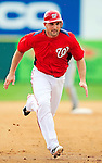 1 March 2011: Washington Nationals' third baseman Ryan Zimmerman in action during a Spring Training game against the New York Mets at Space Coast Stadium in Viera, Florida. The Nationals defeated the Mets 5-3 in Grapefruit League action. Mandatory Credit: Ed Wolfstein Photo