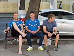 St Johnstone UEFA Cup Qualifyer, Armenia...01.07.15<br /> Steven Anderson, Michael O'Halloran and David Wotherspoon pictured in the Armenia capital Yerevan ahead of tomorrow nights game against Alashkert FC.<br /> Picture by Graeme Hart.<br /> Copyright Perthshire Picture Agency<br /> Tel: 01738 623350  Mobile: 07990 594431