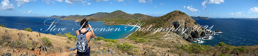 Panoramic view of a hiker<br />