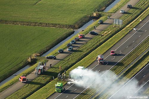 Op zaterdag 16 november 2013, rond 10:50 uur ontstond op de A31 (Harlingen richting Leeuwarden) bij Marsum door nog onbekende oorzaak brand in een vrachtauto van McDonald's Recycling. De bestuurder wist de truck met oplegger op de vluchtstrook tot stilstand te brengen en ontkoppelde vervolgens de brandende oplegger. De oplegger met daarin oud papier en karton brandde geheel uit. De brandweerkorpsen uit Menaldum (Menaam) en Marsum hadden de - naar middelbrand opgeschaalde - brand snel onder controle. Persoonlijke ongelukken hebben zich niet voorgedaan. Tijdens de bluswerkzaamheden was de rijbaan tussen Dronrijp en Marsum voor het verkeer afgesloten. Hierdoor ontstond een file van zo'n 4 km. Nadat de brand was geblust werd het verkeer over één rijstrook geleid om de berging van de vernielde oplegger mogelijk te maken.
