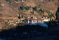 Paro Dzong in Paro, Bhutan (a fortress monastery used as a civil administrative centre and a home for a community of monks).Built in 1644 by Shabdrung Ngawang Namgyal, the founder of modern Bhutan.