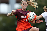 04 October 2015: Virginia Tech's Ashley Meier. The Duke University Blue Devils hosted the Virginia Tech Hokies at Koskinen Stadium in Durham, North Carolina in a 2015 NCAA Division I Women's Soccer match. Virginia Tech won the game 4-2.