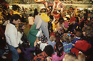 New York, U.S.A, 28th, November, 1991. Babar promotion in the interior of Macy's. Babar is the new king of the Parade.
