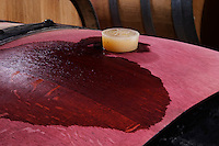 silicone bung on barrel domaine parent pommard cote de beaune burgundy france