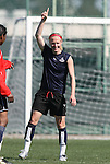 28 March 2009: Washington's Becky Sauerbrunn. The Washington Freedom practiced on Field 2 at the Home Depot Center in Carson, California the day before playing in the Women's Professional Soccer inaugural game.