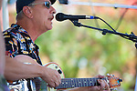A member of the New Orleans Blues duo, Fenny and Russi, perform at the 2013 Los Altos Fall Festival.