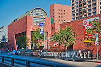 MOCA, The Museum of Contemporary Art, Los Angeles,<br /> Collects, exhibits, and interprets, art, created since 1940, in all, media &amp; preserves it for future generations.