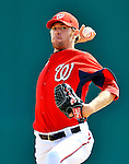 4 March 2011: Washington Nationals pitcher Collin Balester in action during a Spring Training game against the Atlanta Braves at Space Coast Stadium in Viera, Florida. The Braves defeated the Nationals 6-4 in Grapefruit League action. Mandatory Credit: Ed Wolfstein Photo
