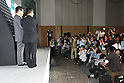 May 31, 2010 - Tokyo, Japan - General manager of Sanyo's solar division Tetsuhiro Maeda, Panasonic Executive Vice President Toshihiro Sakamoto and Managing Director and Chief Director of House Building Marketing in Panasonic  Electric Works Co. Masahiro Ido pose for the picture during a press-conference in Tokyo, on May 31, 2010. The Panasonic Group will launch on July 1, 2010 its HIT215 Series household solar power generation systems, the first series since he acquired domestic rival Sanyo Panasonic is aiming for top market share of at least 35 percent in Japan by 2012.