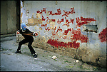 The Palestinian intifada. &amp;#xD;Nablus, West Bank, March 1988&amp;#xD;<br />