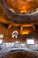 United States, Arizona, Grand Canyon. Inside Desert View Watchtower, also known as the Indian Watchtower at Desert View.