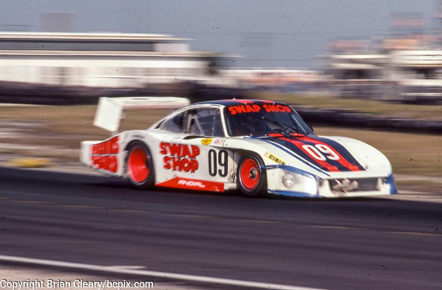 #09 Porsche 936L of Derek Bell, Michael Andretti, John Paul Jr., 57th place, 12 Hours or Sebring, Sebring International Raceway, Sebring, FL, March 19, 1983.  (Photo by Brian Cleary/bcpix.com)
