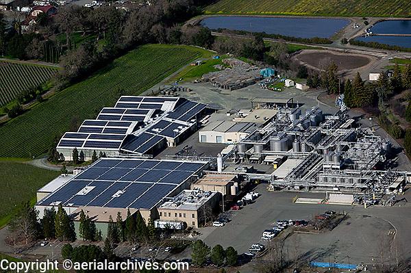 aerial photograph solar installation Napa County, California